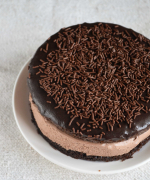 Eggless Chocolate Mousse Sandwich Cake - Video Recipe