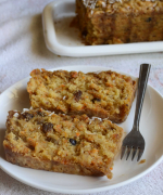 Eggless Carrot Coconut Quick Bread - #BreadBakers