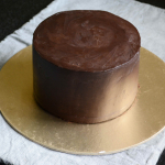 How To Frost A Cake with Ganache Upside Down Method - Video
