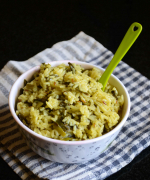 Spring Onion Pulao - Easy One Pot Meal