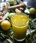 Fresh Turmeric Curry Leaves Juice - Healthy Juice Recipes