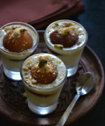 Paneer Gulab Jamun Shot Glass Dessert - Easy Kid Friendly Recipes