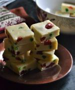 Cherry White Chocolate Fudge - Christmas Recipes
