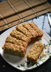Eggless Oats Banana Bread Recipe - #BreadBakers