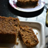Upside Down Eggless Whole Wheat Caramel Coconut Cake Recipe