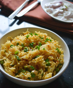 Kharzi Puloa - Arunachal Pradesh Cheese and Spring Onion Pulao Recipe