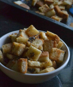 Garlic Butter Croutons Recipe