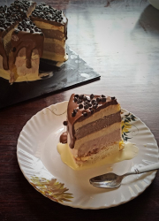 Two ingredient ice cream recipe and Three layered Ice cream Cake - Video Recipe