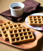 Eggless Whole Wheat Waffles - Video Recipe